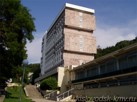 Фасад Санатория им. Г. Димитрова в Кисловодске