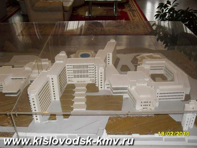 Макет Санатория Джинал в Кисловодске